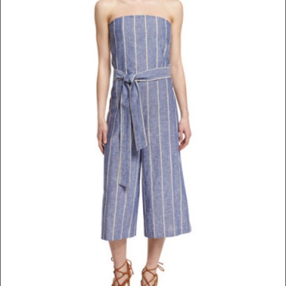 d6129a0e164c Alice + Olivia Pants - Alice + Olivia Lucie Strapless Striped Jumpsuit